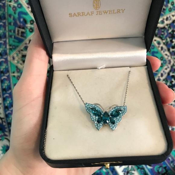 84a334a37 Swarovski Jewelry   Beautiful Blue Butterfly Necklace   Poshmark